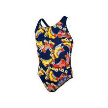 SPEEDO Badeanzug navy / gelb / rostrot / weiß