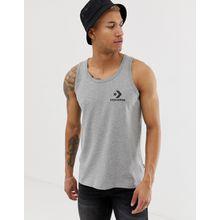 Converse - Graues Trägershirt mit kleinem Logo - Grau