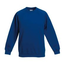 Fruite of the Loom Kinder Raglan Sweatshirt, Royal Blau, Gr.140