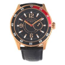 ESPRIT Armbanduhr 'Varsity' rosegold / schwarz