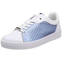 Bugatti Damen 421291025059 Sneaker, Weiß (White/Blue 2040), 37 EU