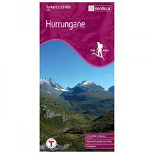Nordeca - Wander-Outdoorkarte: Hurrungane 1/25 - Wanderkarte Auflage 2011