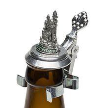 Schnabel-Schmuck Neuschwanstein Bierflaschen Zinndeckel mit Zinnfigur Schloß