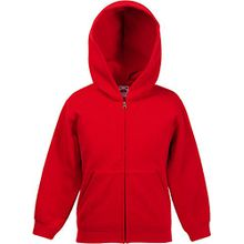 Fruit Of The Loom Kapuzenjacke für Kinder 7-8 Jahre,Rot