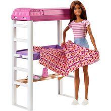Barbie Deluxe-Set Möbel Hochbett mit Schreibtisch & Puppe