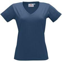 """HAKRO Damen V-Shirt """"Classic"""" - 126 - denim - Größe: XXL"""