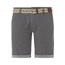Chino-Shorts mit Gürtel Modell 'Nebraska'