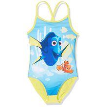 Disney Mädchen Badeanzug Dorie Nemo 88809, Gelb (Gelb 416), 128
