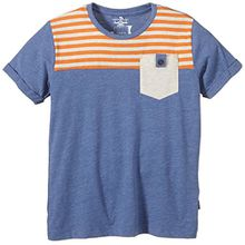 NAME IT Jungen T-Shirt Henrik Kids Ss Top 215, Gr. 122 (Herstellergröße: 122-128), Blau (Federal Blue)