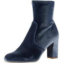 Steve Madden Damen Avenue Kurzschaft Stiefel, Blau (Blue Velvet), 40 EU(9 UK)