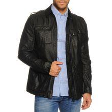 tigha Jacke aus Leinen in schwarz für Herren
