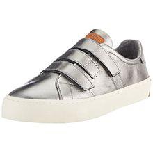Marc O'Polo Damen Sneaker 70714203502102, Silber (Gunmetal), 39 EU