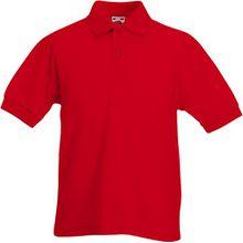 Fruit of the Loom - Kinder Poloshirt 'Piqué Polo 65/35' 164,Red