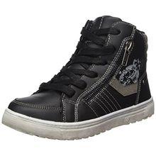 Indigo Jungen 451 044 Hohe Sneaker, Schwarz (Black), 34 EU