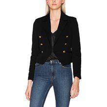 VERO MODA Damen Vmselma W/L Blazer D2-5, Schwarz (Black Beauty Black Beauty), 36 (Herstellergröße: S)