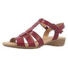 Gabor Damen Sandaletten - Rot Schuhe in Übergrößen, Größe:42
