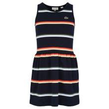 LACOSTE Kleid nachtblau / hellblau / grasgrün / rot / weiß