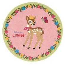 Spiegelburg Kinderteppich Prinzessin Lillifee & das Reh, 130 cm rund rosa