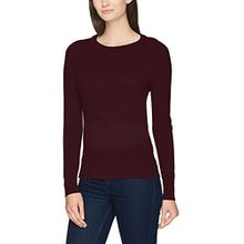 SELECTED FEMME Damen Pullover Sfcosta LS Knit Slit O-Neck Noos, Rot (Mauve Wine Mauve Wine), 36 (Herstellergröße:S)