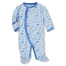 Schnizler Baby-Jungen Schlafstrampler Allover Schlafanzug, Frühchen, Oeko-Tex Standard 100, Gr. 56, Blau (bleu 17)