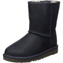 UGG Classic Short Leather, Unisex-Kinder Kurzschaft Stiefel, Blau (Peacoat), 31 EU