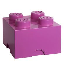 Lego - Storage Brick 4, medium pink