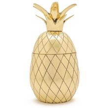 Dekorative Dose Ananas, goldfarben