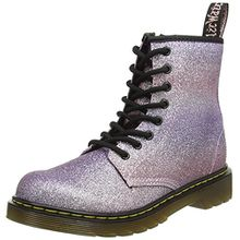 Dr. Martens Unisex-Kinder Delaney GLTR Pink Multi Glitter PU Stiefel, Pink (Pink Multi), 31 EU