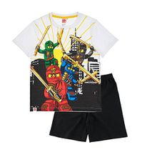 Lego Ninjago Jungen Shorty-Pyjama - weiß - 116