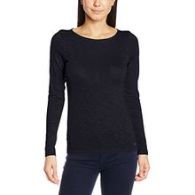 Marc O'Polo Damen Langarmshirt 700226152325, Blau (Deep Sea Blue 899), Medium