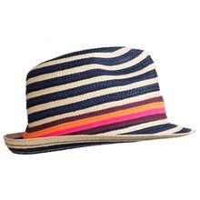 Stöhr - Strawhat Denim - Hut Gr One Size schwarz/beige;blau/schwarz
