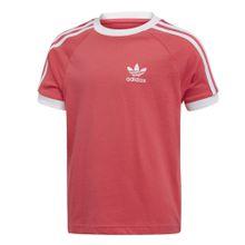 ADIDAS ORIGINALS T-Shirt '3-Streifen' melone / weiß