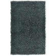 Duschmatte grau - graphit Chenille | saugstarker Badezimmerteppich | waschbar | 50 x 80 cm