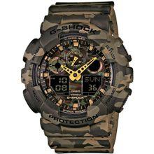 CASIO G-Shock 'GA-100CM-5AER' braun / khaki / dunkelgrün / schwarz