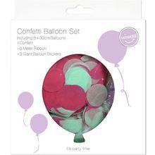Konfetti Ballon Set bunt