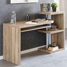 Sonoma Eiche Schreibtisch mit Regal 145x50x94 cm braun