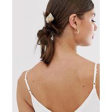 ASOS DESIGN - Haarspange mit Muscheldetail - Gold