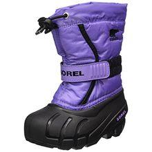 Sorel Childrens Flurry, Kinder Schneestiefel, Violett (Paisley Purple/Black), 28
