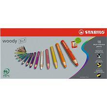 Buntstift woody 3 in 1, 18 Farben