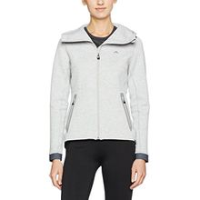 J. Lindeberg Damen Sweatshirt W Athletic Tech Sweat, Grey (stone Grey Melange), Gr. XL (Herstellergröße: XL)