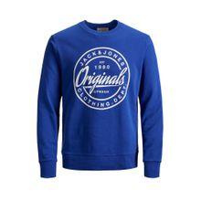 JACK & JONES Sweatshirt royalblau / perlweiß
