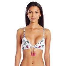 Seafolly Damen Bikini Flower Festival Tie Front Bra, Blanc (White), S