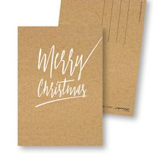 "Frau Schnobel GrafikWeihnachtskarten \Merry Christmas – B\""4er Set"""