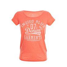 TOM TAILOR T Shirt Damen Kurzarm Top, Farbe:Orange;Damengrößen:XL