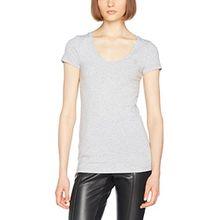 G-STAR RAW Damen T-Shirt Base R T Wmn Cap SL, Grau (Grey HTR 906), Small