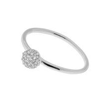 Ring Sphere, 925 Sterlingsilber, rhodiniert