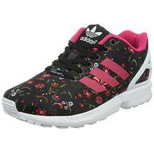 adidas ZX Flux, Damen Sneakers, Schwarz (Core Black/Vivid Berry S14/Ftwr White), 37 1/3 EU (4.5 Damen UK)
