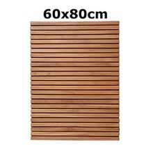 object de signprodukte Isi, Teak, 60x80cm, Badvorleger, Badematte, Bath Matt, Sauna, Bad, Wellness, Massivholz, distributed by