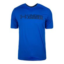 UNDER ARMOUR Trainingsshirt 'HeatGear Raid Graphic' blau / dunkelblau