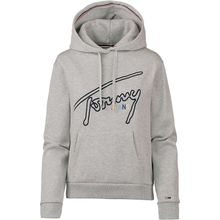 Tommy Jeans Hoodie Tommy Signature Pullover grau Damen